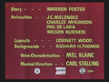 What's Up, Doc (1950) Credits screen