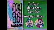 WATL FOX 36 promo for Super Mario Bros Super Show 1990