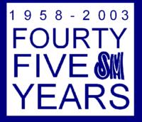 SM 45 year logo