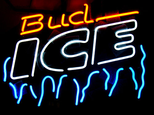 Bud Ice frost neon sign