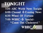 WBRC Channel 6 Tonight Line-up 1989