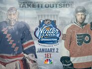 NBC Sports' NHL On NBC's Winter Classic, New York Rangers Vs. Philadelphia Flyers Video Promo For Monday Afternoon, January 2, 2012