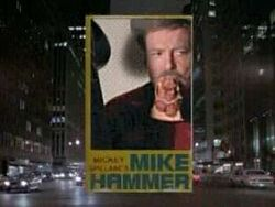 Mike hammer private eye