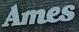 White ames logo