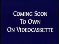 Walt Disney Studios Home Entertainment Buena Vista Coming Soon to Own on Videocassette Logo
