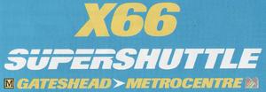 GG SuperShuttle X66 logo 1997
