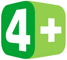 4 Plus TV Logo