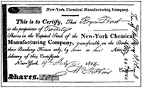 200px-Certificate of Stock of Chemical Mfg Company 1824