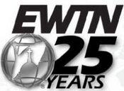 EWTN 25 Years silver logo