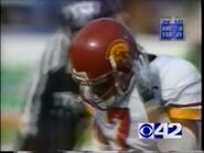 CBS 42 STATION ID during Sun Bowl TCU-USC on New Year's Eve 1998