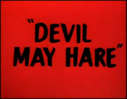 Devil May Hare title card