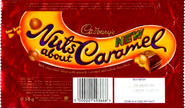Cadbury's Nuts About Caramel (Packaging)