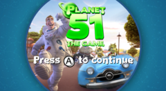 Planet 51 Wii Game Title 16x9