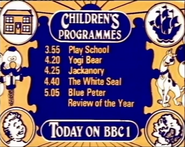BBC1 Children's Menu 1978