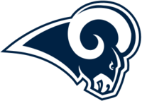 Los Angeles Rams 2017 white logo
