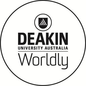 Deakin worldly logo