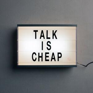 Talk Is Cheap logo