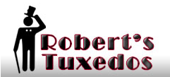 File:Robert's Tuxedos new logo.png