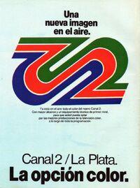 Logo-Canal 2 La Plata-la opcion color
