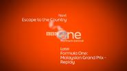 BBC One NI F1 Coming up Next bumper