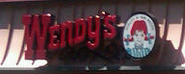 Wendy's Logo on Roof