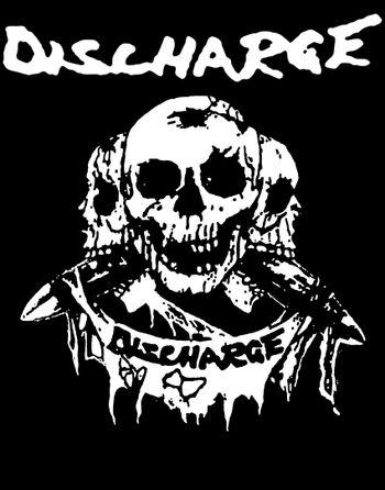 Discharge logo