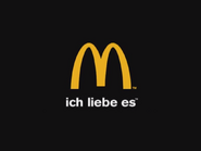 McDonald's East and West Cybersland logo (used at the end of commercials targeted to German people since 2003)