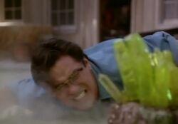 Clark exposed to Green Kryptonite