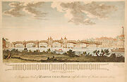Hampton Court bridge (1753) engraving