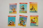 Uncle Toby's Beach Looney Tunes set of 6 cards 1992