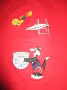 1997 Looney Tunes TWEEDY BIRD Diving SYLVESTER Embroidered