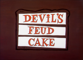 Devil's Feud Cake title card