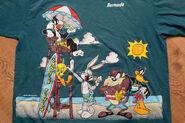 Looney Tunes Bermuda Surf T-Shirt, Bugs Taz Daffy Tweety, Vintage 90s