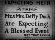 Lt mrs daffy wise quacks 1939 announcement