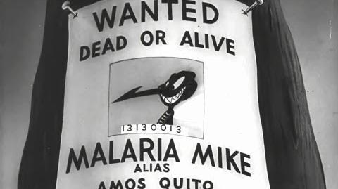 Private SNAFU vs Malaria Mike 1944 US Army Training Cartoon, Mel Blanc, Chuck Jones