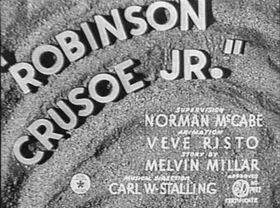 Robinson Crusoe Jr Real Title Card