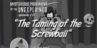 The Taming of the Screwball