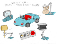 Wakkos car tnlts speed racer parody model sheet colored