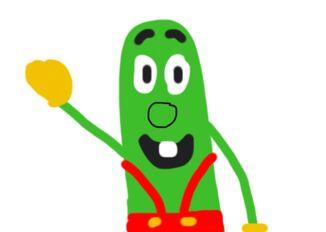 Lenny the Cucumber Looney Tunes VeggieTales