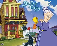 Granny, sylvester, tweety