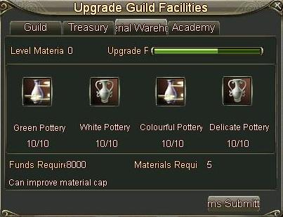 Upgrade Guild Facilities