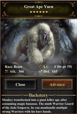 Card - Great Ape Yuen