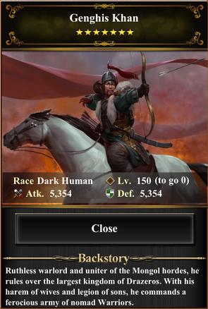 Card - Genghis Khan-max