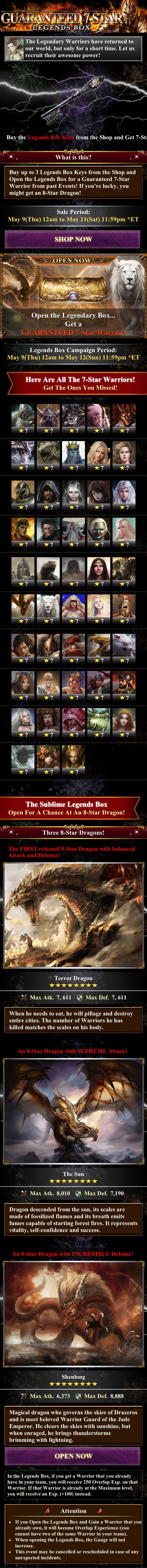 Guaranteed 7 Star (Legends Box)