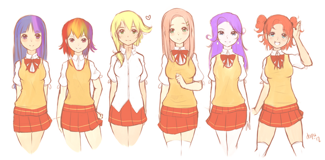 File:Sa characters lineup by derpiihooves-d59f3et.png