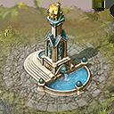 Lou building city fountain