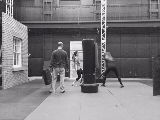 File:Season 5 bts - rehearsal (Silk w Skarsten stunt double).jpg