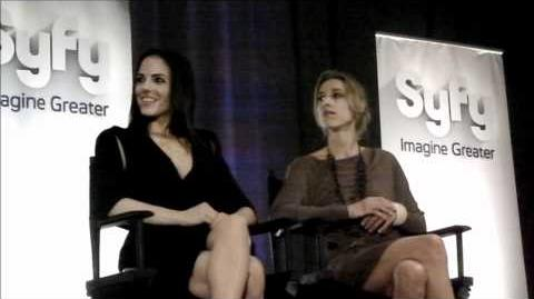 Anna Silk and Zoie Palmer - 2011 Syfy Digital Press Tour