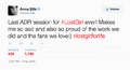 Anna Silk (Season 5 last post-production) tweet.png