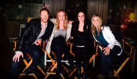 Season 5 bts - Cast on set (August 2014)